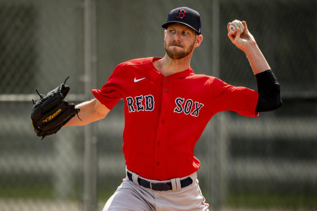 Red Sox pitcher Chris Sale will require Tommy John surgery, ending his 2020 season before it began. (Photo by Billie Weiss/Boston Red Sox/Getty Images)