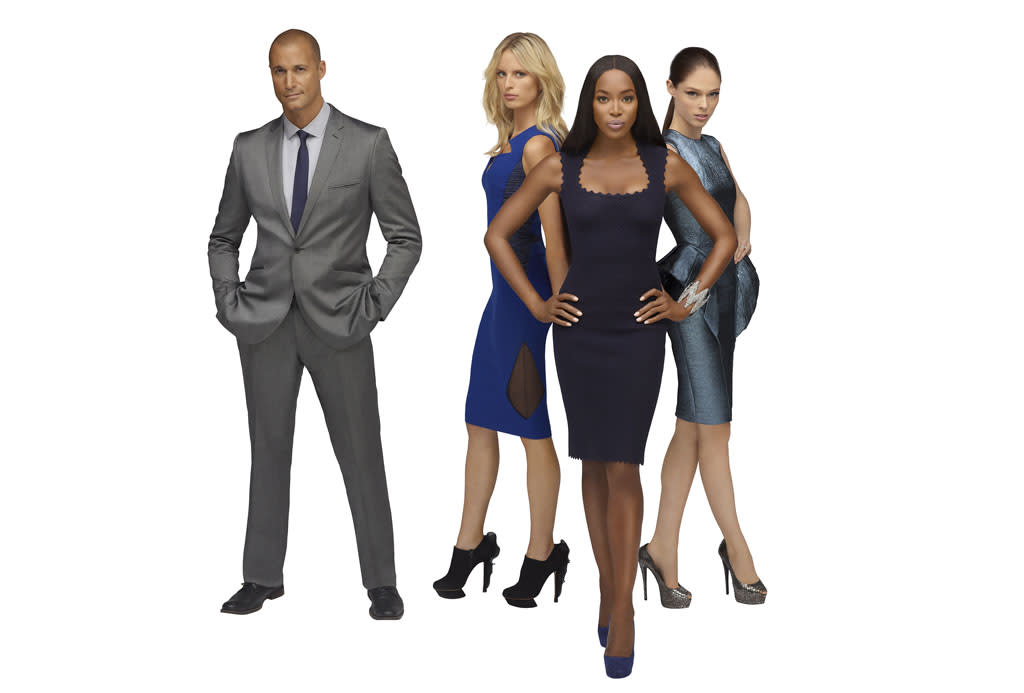 THE FACE -- Season: 1 -- Pictured: (l-r) Nigel Barker, Naomi Campbell, Karolina Kurkova, Coco Rocha