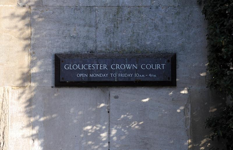 A general view of signage at Gloucester Crown Court.