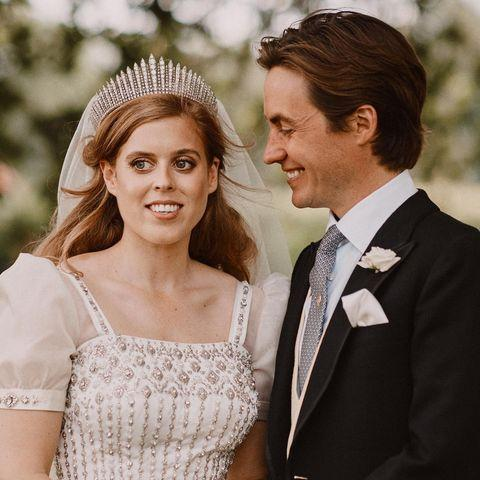 "<p>""Her Royal Highness Princess Beatrice of York and Mr. Mapelli Mozzi have been touched by the warm wishes they have received since their wedding, and are delighted to share two additional photographs of their happy day.</p><p>The pictures show Princess Beatrice and Mr Mapelli Mozzi in the grounds of Royal Lodge after their wedding.</p><p>Photographs by Benjamin Wheeler.""</p><p><a href=""https://www.instagram.com/p/CC05fTMH_HJ/"" rel=""nofollow noopener"" target=""_blank"" data-ylk=""slk:See the original post on Instagram"" class=""link rapid-noclick-resp"">See the original post on Instagram</a></p>"