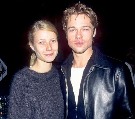 Gwyneth Paltrow and Brad Pitt at the David Bowie After Show Party in 1995.