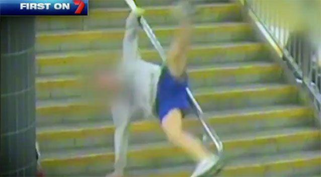 Sliding down a handrail, there is a good chance of this happening. Photo: 7 News