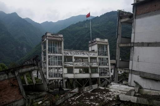 The ruins of Xuankou Middle School still stand, 10 years after a huge quake that levelled swathes of Sichuan province, killing tens of thousands of people