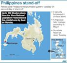A map showing Zamboanga in the Philippines where Muslim rebels seized dozens more hostages and traded gunfire with troops Tuesday on the seconday of a deadly stand-off
