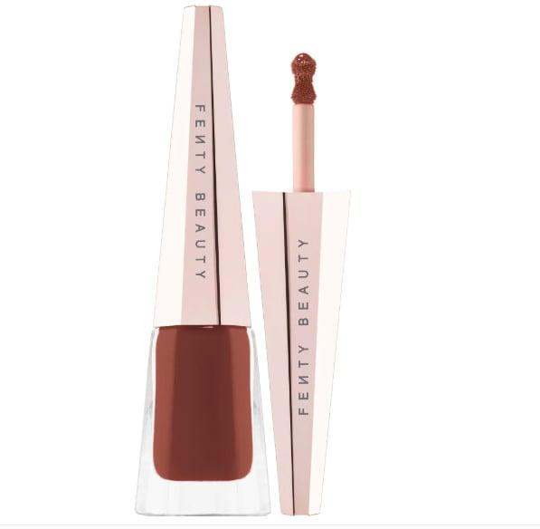 <p>Don't mind us as we literally swoon over the <span>Fenty Beauty by Rihanna Stunna Lip Paint Longwear Fluid Lip</span> ($24). We're particularly smitten with this soft matte chocolatey shade. </p>