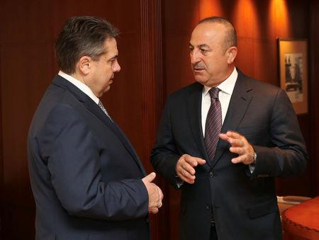 Turkish Foreign Minister Cavusoglu meets his German counterpart Gabriel in Berlin
