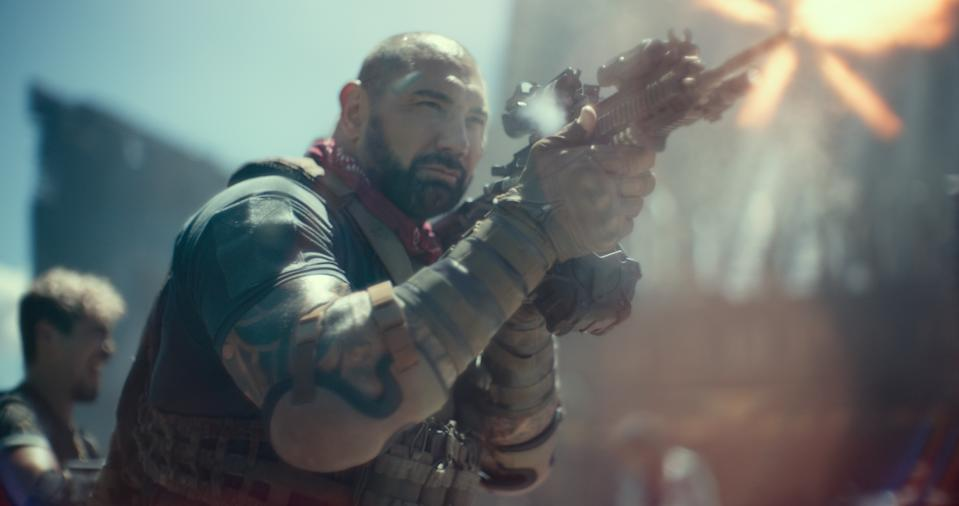 Dave Bautista as Scott Ward in Zack Snyder's Army Of The Dead.