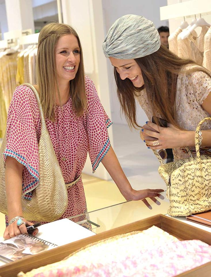 """Nicky Hilton and other friends of the fashion house were also invited to shop the flagship a day before the party. The hotel heiress found a tour guide in Margherita Missoni, the daughter of the label's designer and the brand's official """"ambassador."""" Charley Gallay/<a href=""""http://www.wireimage.com"""" target=""""new"""">WireImage.com</a> - March 17, 2010"""