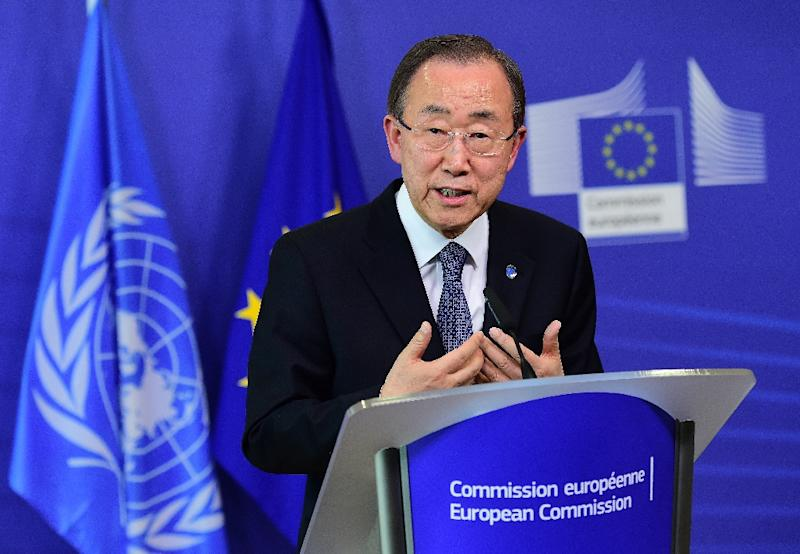 """UN Secretary-General Ban Ki-moon calls for """"flexibility and compromise"""" at a development financing summit that opened in Ethiopia's capital (AFP Photo/Emmanuel Dunand)"""