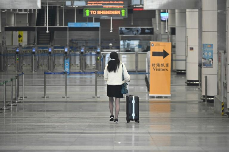 Hong Kong's border crossings are unusually quiet after quarantines were imposed to curb the coronavirus