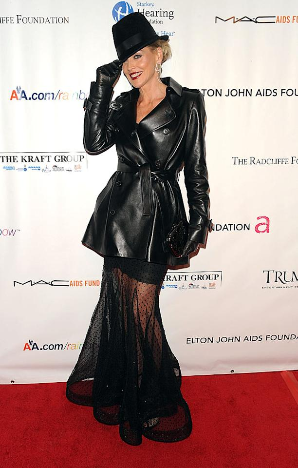 "Sharon Stone was among those honored at the 8th annual Elton John AIDS Foundation fundraiser. This year's event, dubbed ""An Enduring Vision,"" was held at Cipriani Wall Street in New York. Andrew H. Walker/<a href=""http://www.wireimage.com"" target=""new"">WireImage.com</a> - November 16, 2009"