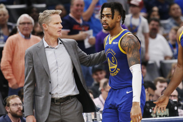 Steve Kerr admitted that D'Angelo Russell was never the right fit with the Warriors. That doesn't mean they were wrong to acquire him. (AP Photo/Sue Ogrocki)