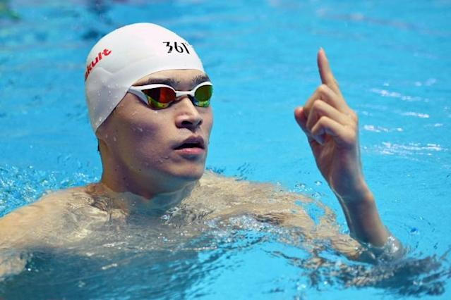 Sun Yang is accused of smashing a vial containing his own blood when anti-doping testers visited him in 2018 (AFP Photo/Oli SCARFF)