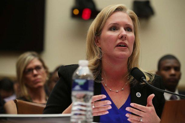 PHOTO: Elizabeth Neumann, Assistant Homeland Security Secretary for Threat Prevention and Security Policy in the Office of Strategy, Policy and Plans, testifies on Sept. 24, 2019, on Capitol Hill in Washington, DC. (Alex Wong/Getty Images)