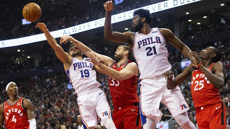 76ers Raptors Basketball