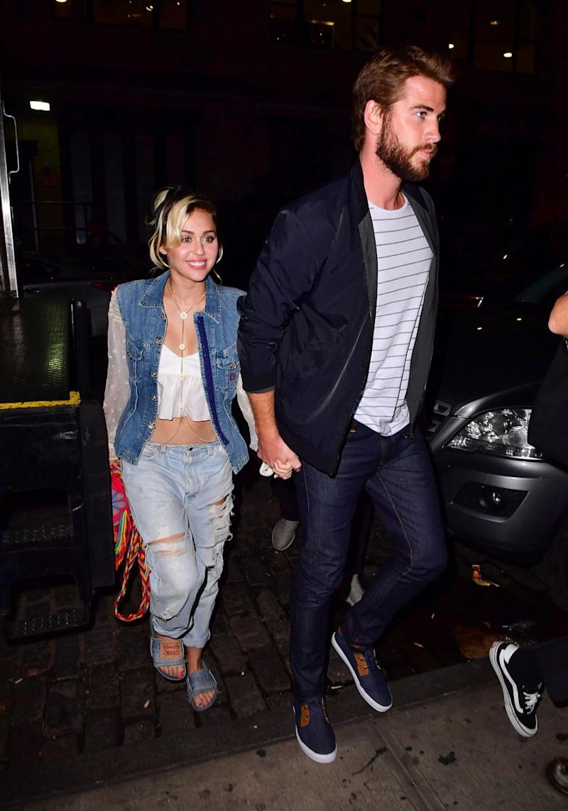 So have Miley and Liam tied the knot? Source: Getty
