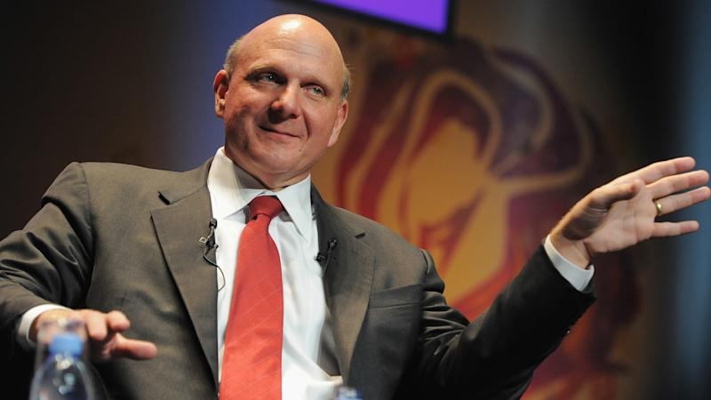 CANNES, FRANCE - JUNE 24: Microsoft CEO Steve Ballmer gives a speech during the Microsoft Advertising Seminar as part of the 56th Cannes Lions International Advertising Festival on June 24, 2009 in Cannes, France.