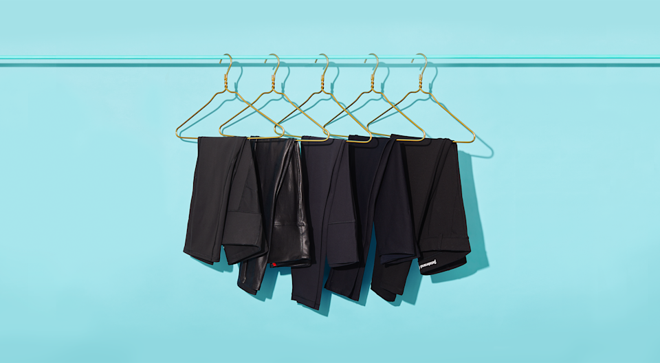"""<p>Move over jeans: Black leggings are the true staple we need in our wardrobes. We all know they're <a href=""""https://www.goodhousekeeping.com/health-products/g4042/best-workout-leggings/"""" rel=""""nofollow noopener"""" target=""""_blank"""" data-ylk=""""slk:perfect for workouts"""" class=""""link rapid-noclick-resp"""">perfect for workouts</a>, but the right pair can also keep you comfy and stylish for everything from running errands to a fun night out. You can even wear some black leggings as pants to work (yes, really!). But with so many options out there, you'll need to find a pair that actually feels comfortable, looks good, and holds up.</p><p>The <a href=""""https://www.goodhousekeeping.com/institute/about-the-institute/a19748212/good-housekeeping-institute-product-reviews/"""" rel=""""nofollow noopener"""" target=""""_blank"""" data-ylk=""""slk:Good Housekeeping Institute's"""" class=""""link rapid-noclick-resp"""">Good Housekeeping Institute's</a> Textiles Lab tests black leggings for sweat management, pilling resistance, construction, opacity, washability, and more, then we send them home with consumer testers to get feedback on real-life aspects like breathability, fit, comfort and appearance. The picks ahead are either top-tested styles, editor favorites, or best-sellers with lots of glowing reviews. </p><h2 class=""""body-h2""""><strong>How to find the best black leggings for you </strong></h2><p>Here are some things to check out when you're finding your perfect pair:</p><ul><li><strong>Fabric</strong>: If you're looking for <a href=""""https://www.goodhousekeeping.com/health-products/g4042/best-workout-leggings/"""" rel=""""nofollow noopener"""" target=""""_blank"""" data-ylk=""""slk:workout leggings"""" class=""""link rapid-noclick-resp"""">workout leggings</a>, go for a pair made with performance fibers (i.e. synthetics) like nylon or polyester. They're usually moisture-wicking, more durable and opaque, and have better stretch than cotton. If you want a pair for lounging or to wear under longer tops and dresses (i.e. it doesn't need to be """