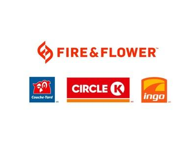 Fire & Flower - Alimentation Couche-Tard Logos (CNW Group/Fire & Flower Holdings Corp.)