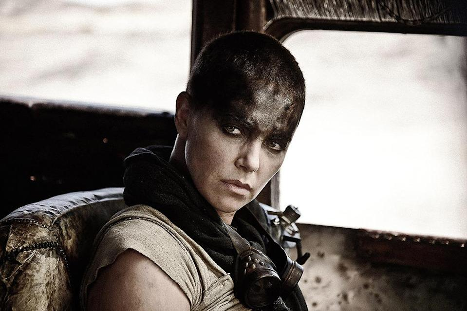"""<p>George Miller's furious actioner has emerged as a viable awards contender and should race into the Best Picture race. But what about its Best Actress? Theron didn't just <a href=""""https://www.yahoo.com/movies/charlize-theron-mad-max-fury-road-rolled-in-dirt-11831116"""" data-ylk=""""slk:roll around in the dirt every day"""" class=""""link rapid-noclick-resp"""">roll around in the dirt every day</a> to get into character as Furiosa: She provided the film's heart and soul and delivered an unflinching, badass turn that has earned a place among our all-time-great screen heroines.</p>"""