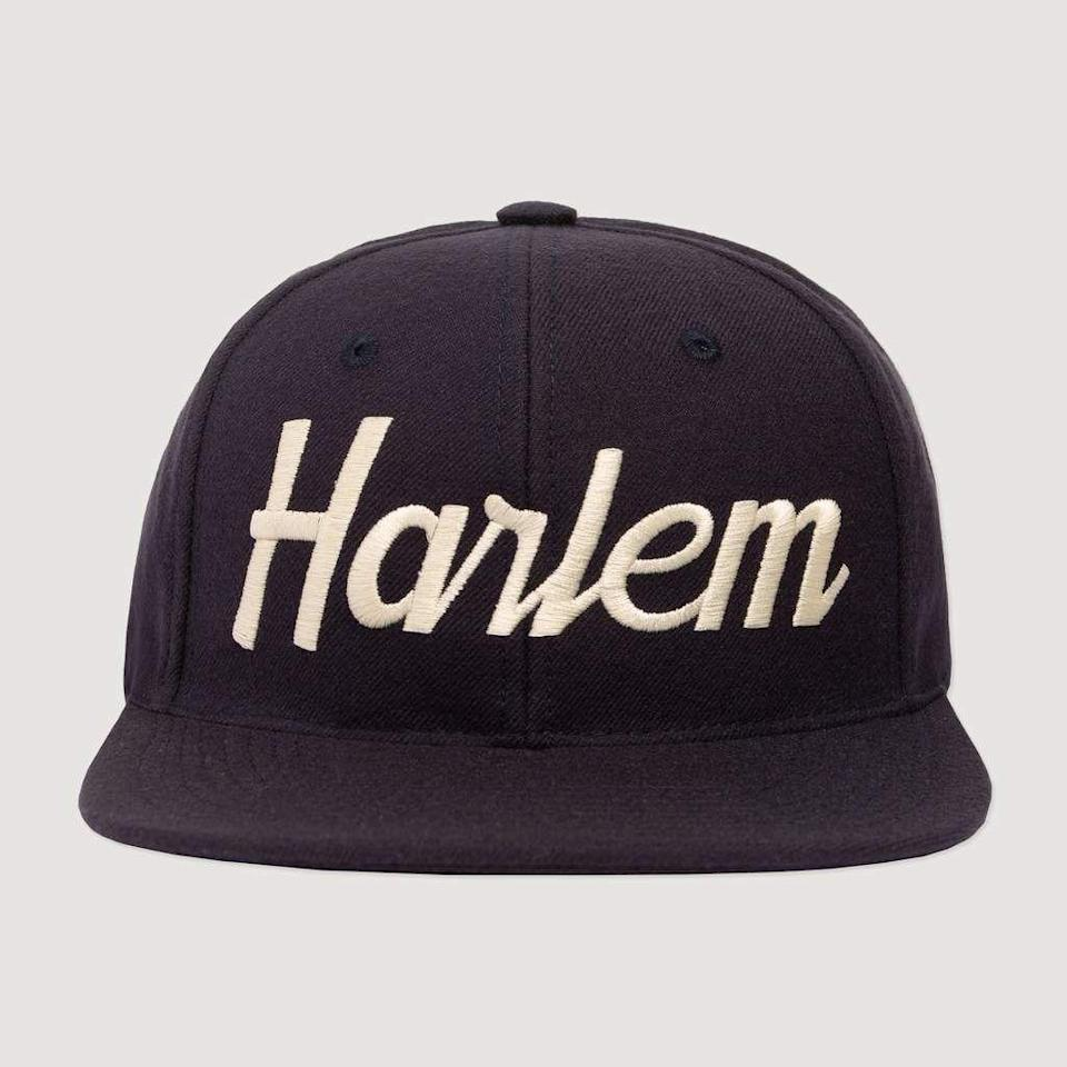 "<p>rowingblazers.com</p><p><strong>$12.50</strong></p><p><a href=""https://rowingblazers.com/collections/hats/products/harlem-snapback-hat"" rel=""nofollow noopener"" target=""_blank"" data-ylk=""slk:Shop Now"" class=""link rapid-noclick-resp"">Shop Now</a></p><p>Timothée Chalamet is a fan of Rowing Blazers caps, which is really all the endorsement we need. Its new collection represents cities from Augusta, Georgia, to West Hollywood, California, so you can personalize it to his hometown. </p>"