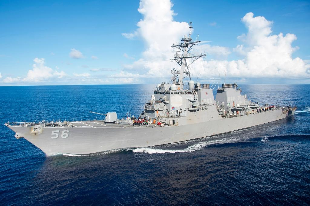 The Arleigh Burke-class guided-missile destroyer USS John S. McCain (AFP Photo/Gavin Shields)