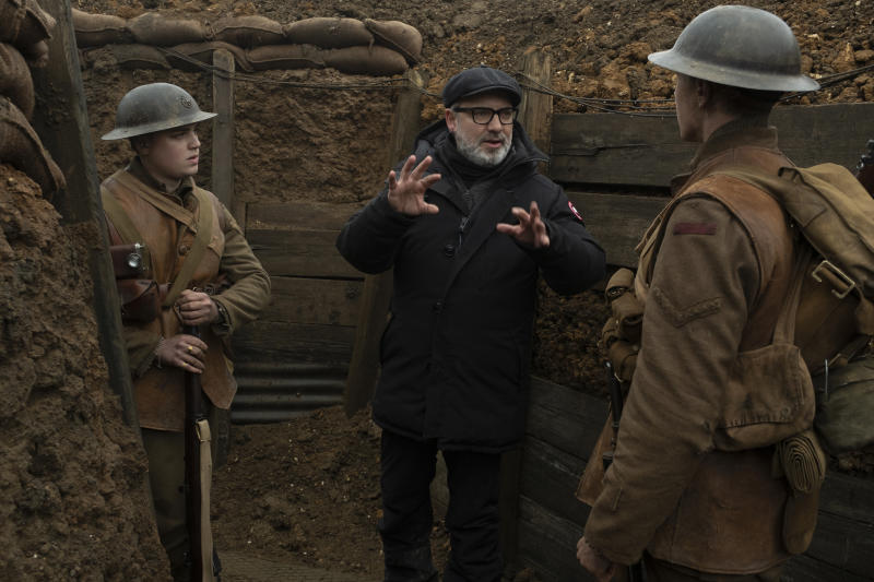 Sam Mendes on the set of his single-take World War I movie '1917' (Photo: Francois Duhamel / Universal Pictures and DreamWorks Pictures)