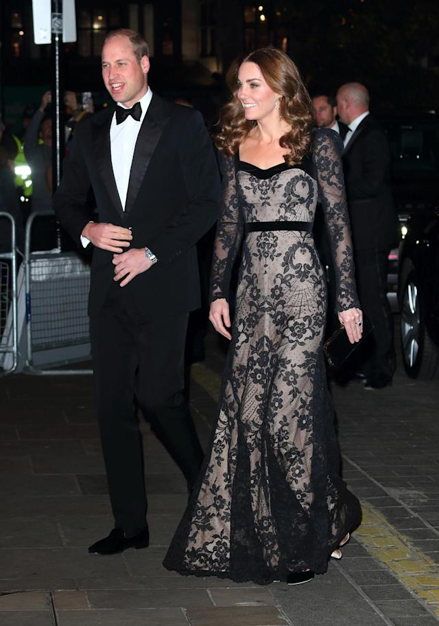 The Duke and Duchess of Cambridge attend the Royal Variety Performance at the London Palladium. [Photo: Getty]