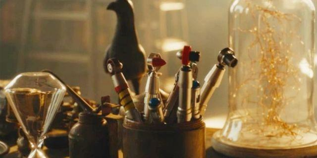An assortment of sonic screwdrivers - Credit: BBC
