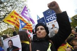 Hundreds for Catalan independence in Brussels