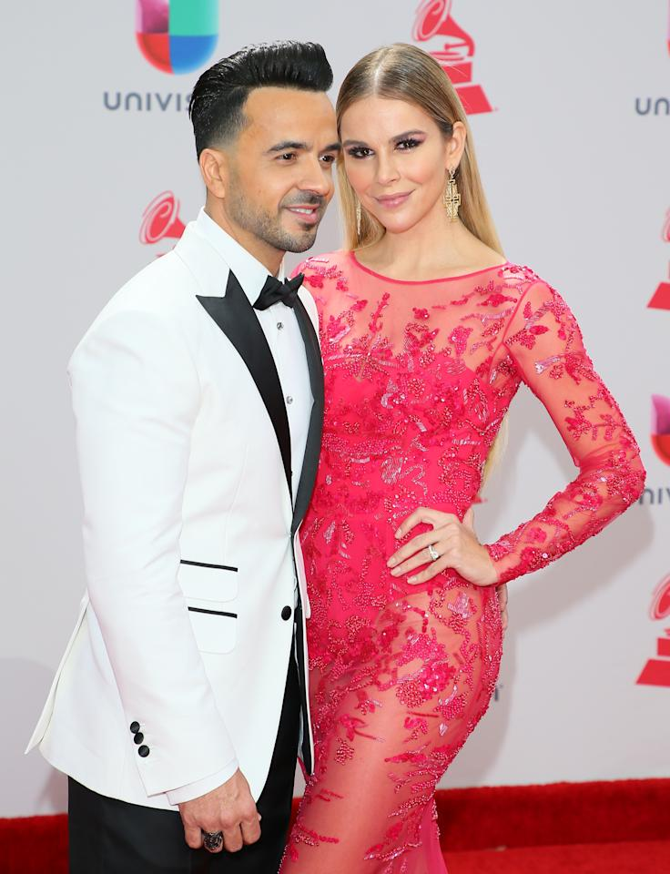<p>Luis Fonsi y su mujer/Getty Images </p>