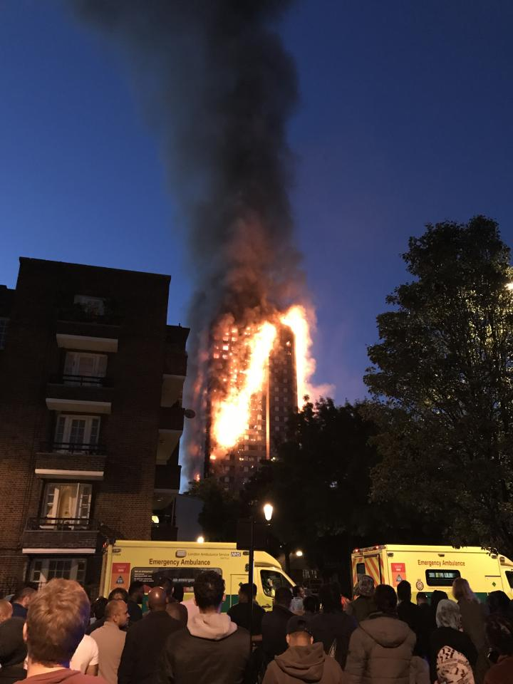 <p>A huge fire engulfs the 24 story Grenfell Tower in Latimer Road, West London as emergency services attended in the early hours of June 14, 2017. (Photo from Epics/Getty Images) </p>