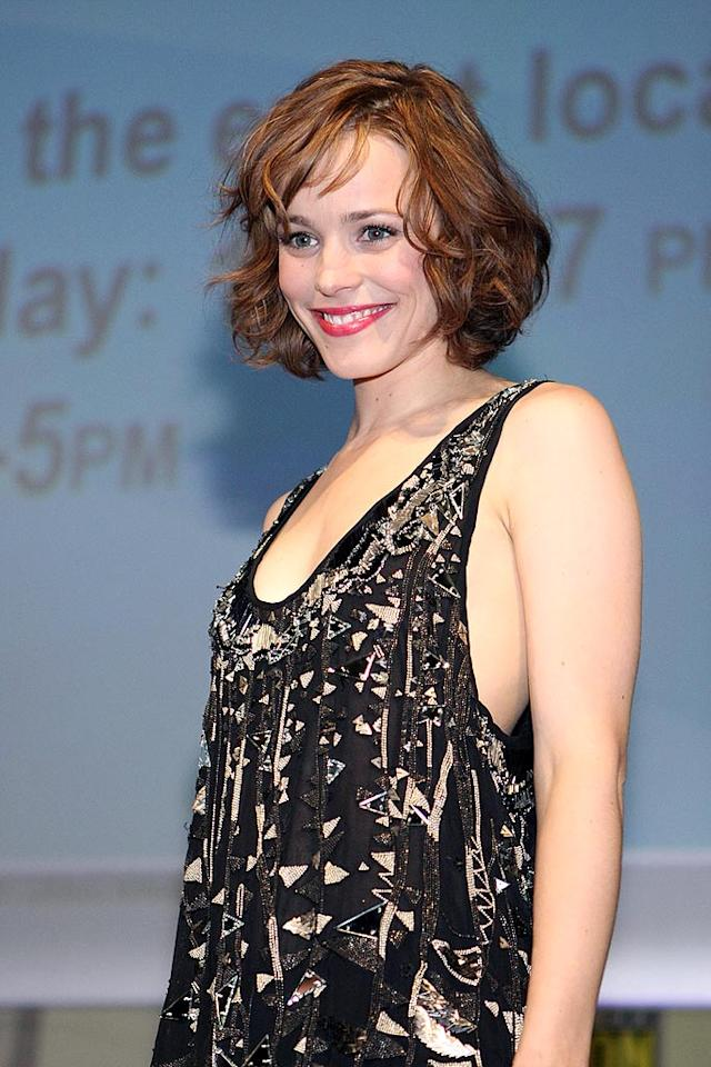 """Sherlock Holmes"" hottie Rachel McAdams was all smiles upon unveiling scenes from the Guy Richie-directed film based on Sir Arthur Conan Doyle's classic character. Chelsea Lauren/<a href=""http://www.wireimage.com"" target=""new"">WireImage.com</a> - July 24, 2009"