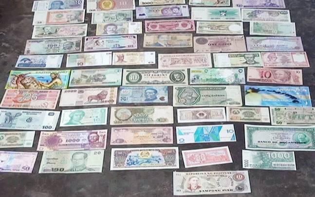 In fake currency hub Malda, there's a real collection of currency from 150 countries