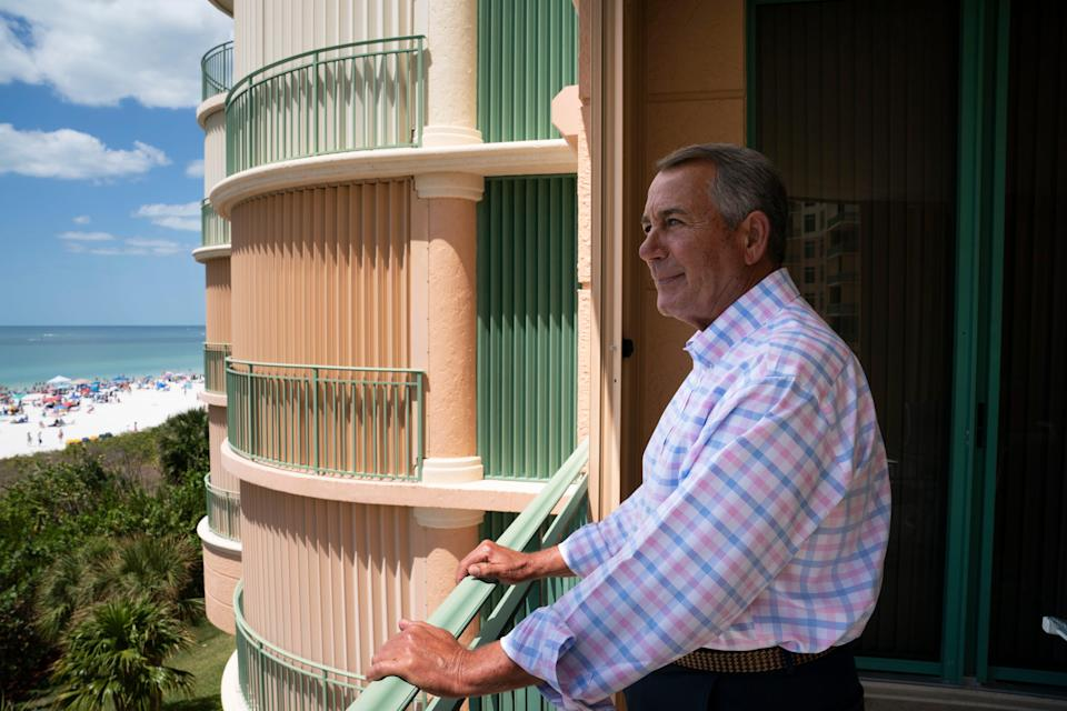 "Former Speaker of the House John Boehner spoke with USA TODAY Washington Bureau Chief Susan Page about his new book, ""On the House: A Washington Memoir,"" in Marco Island, Fla., on April 5."