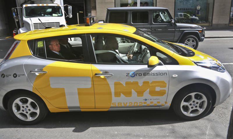 6 electric taxis are hitting the NYC streets