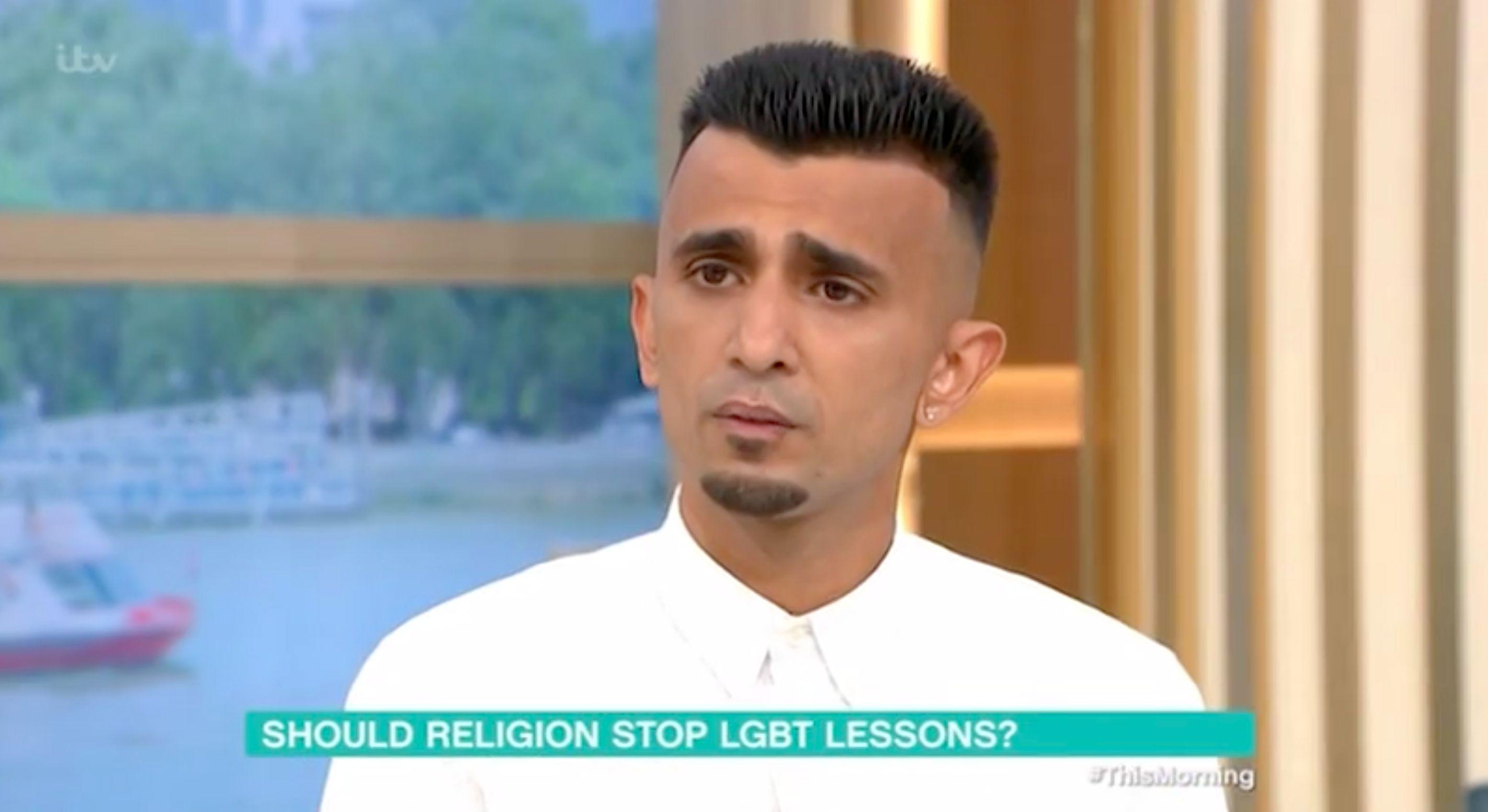 Shakeel Afsar is leading the protests against LGBTQ+ education at a primary school in Birmingham (ITV)