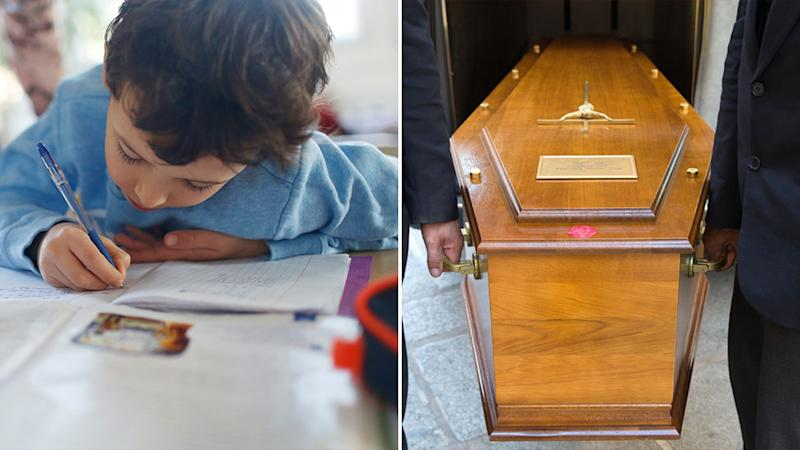 A mother was concerned when her child got a home work assignment about planning their own funeral. Source: Getty Images