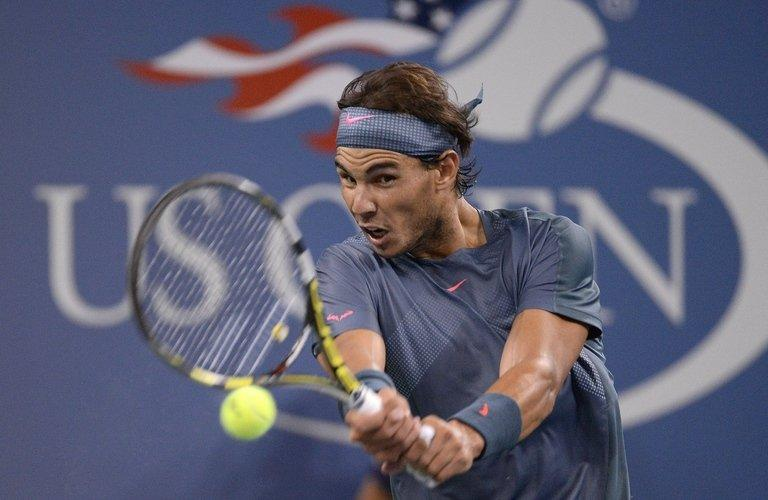 Rafael Nadal during his US Open match against Tommy Robredo in New York on September 4, 2013. Nadal, the 12-time Grand Slam title winner and the 2010 New York champion, faces Richard Gasquet, the French eighth seed on Saturday