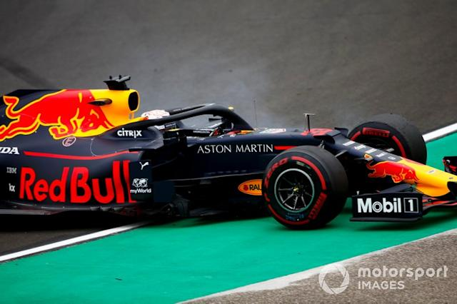 "Trompo de Max Verstappen, Red Bull Racing RB15 <span class=""copyright"">Andrew Hone / LAT Images</span>"
