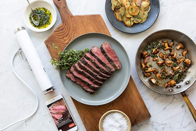 The small but powerful sous vide ensures you'll never overcook a meal ever again — and you won't believe the low Prime Day price. (Photo: Amazon)