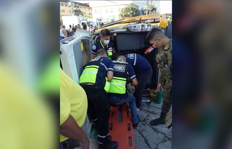 Army truck hits school van; 9 students, 2 others injured
