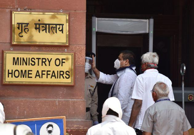 A file photo of the entrance to the Ministry of Home Affairs in North Block, New Delhi.