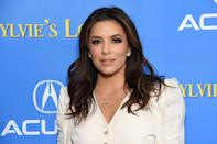 <p>Money piece highlights are one of the hottest new trends in hair. On dark hair, chestnut highlights are the perfect face-framing shade. For money piece highlights like <strong>Eva Longoria</strong>, ask for two face-framing pieces on either side. </p>