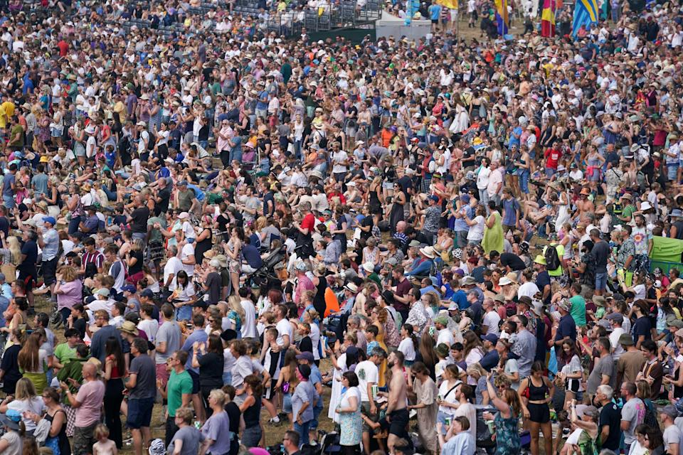 The festival was part of the Government's Events Research Programme (PA Wire)