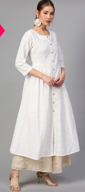 "<a href=""https://fave.co/2SRDV8k"" rel=""nofollow noopener"" target=""_blank"" data-ylk=""slk:BUY HERE"" class=""link rapid-noclick-resp"">BUY HERE</a> Cotton printed A-line kurta, by Varanga from Tata CLiq, for a discounted price of <strong>Rs. 939</strong>"