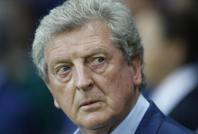 Former England coach Roy Hodgson looks on before the Euro 2016 round of 16 soccer match between England and Iceland