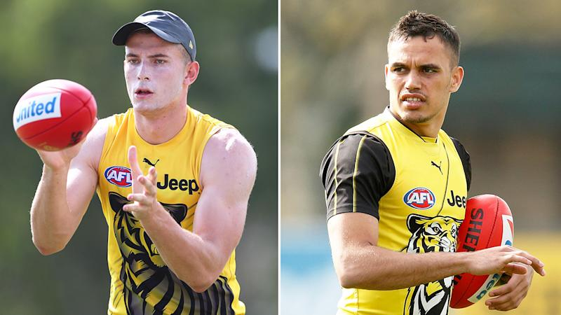 Pictured here, the two Richmond players involved in the brawl outside a Gold Coast strip club.