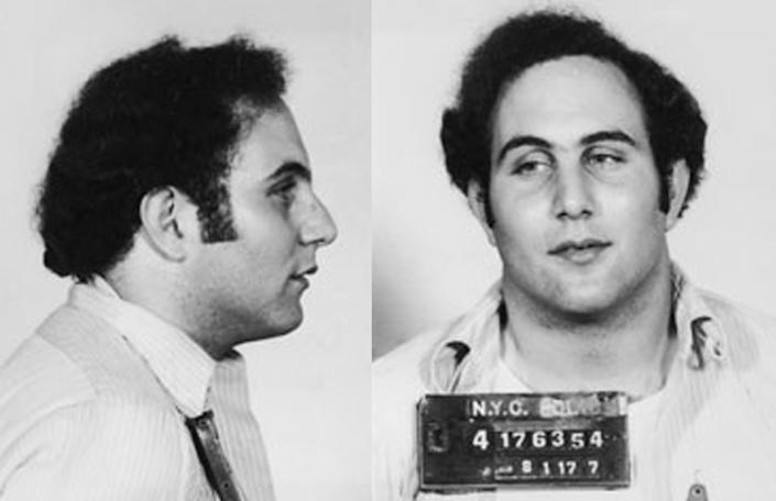 David Berkowitz appears in a booking photo following his arrest August 1977. Berkowitz, also known as the