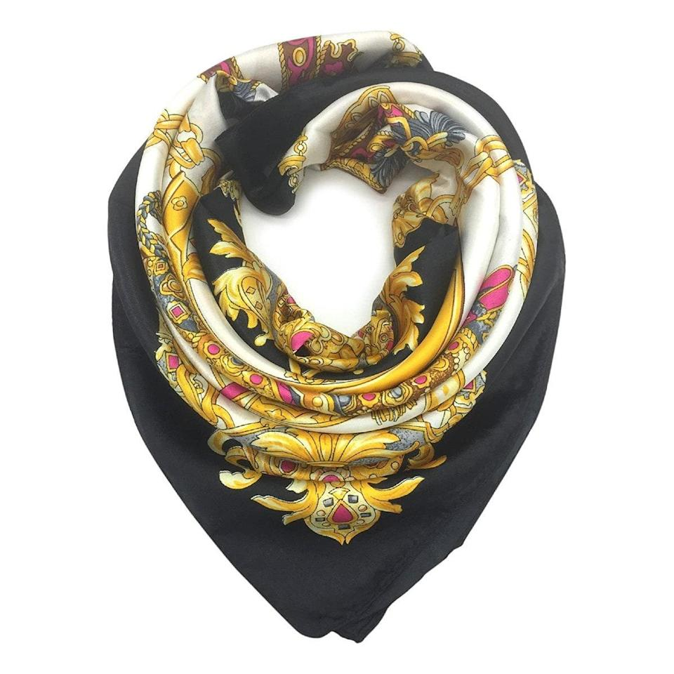 """We can all agree that a versatile product <em>always</em> has room in our closets (and hearts). Bandanas and silk scarves in particular often double as strapless tops, handbag accessories, hair ties, and more, which explains why this <a href=""""https://vm.tiktok.com/ZMRm6pN1y/"""" rel=""""nofollow noopener"""" target=""""_blank"""" data-ylk=""""slk:$9 scarf"""" class=""""link rapid-noclick-resp"""">$9 scarf</a> had TikTok-ers showing off their best looks across the app. $9, Amazon. <a href=""""https://www.amazon.com/YOUR-SMILE-Fashion-Headscarf-Headdress/dp/B01GTNIP6C"""" rel=""""nofollow noopener"""" target=""""_blank"""" data-ylk=""""slk:Get it now!"""" class=""""link rapid-noclick-resp"""">Get it now!</a>"""